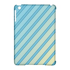 Blue Elegant Lines Apple Ipad Mini Hardshell Case (compatible With Smart Cover) by Valentinaart