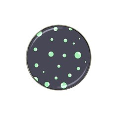 Green Bubbles Hat Clip Ball Marker (10 Pack) by Valentinaart