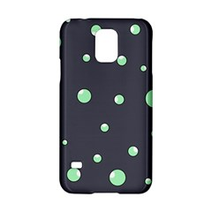 Green bubbles Samsung Galaxy S5 Hardshell Case  by Valentinaart