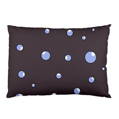 Blue Bubbles Pillow Case (two Sides) by Valentinaart