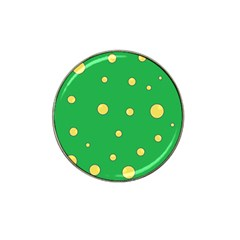 Yellow Bubbles Hat Clip Ball Marker (10 Pack) by Valentinaart