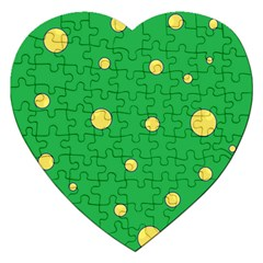 Yellow bubbles Jigsaw Puzzle (Heart)
