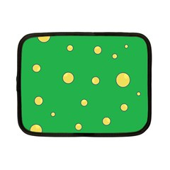 Yellow Bubbles Netbook Case (small)  by Valentinaart