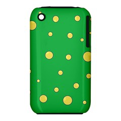 Yellow bubbles Apple iPhone 3G/3GS Hardshell Case (PC+Silicone) by Valentinaart