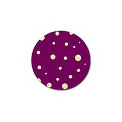 Purple And Yellow Bubbles Golf Ball Marker by Valentinaart