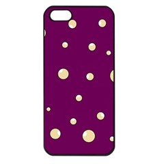 Purple And Yellow Bubbles Apple Iphone 5 Seamless Case (black) by Valentinaart