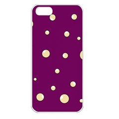 Purple And Yellow Bubbles Apple Iphone 5 Seamless Case (white) by Valentinaart