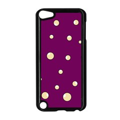 Purple and yellow bubbles Apple iPod Touch 5 Case (Black) by Valentinaart