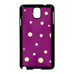 Purple And Yellow Bubbles Samsung Galaxy Note 3 Neo Hardshell Case (black) by Valentinaart