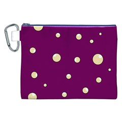 Purple And Yellow Bubbles Canvas Cosmetic Bag (xxl) by Valentinaart