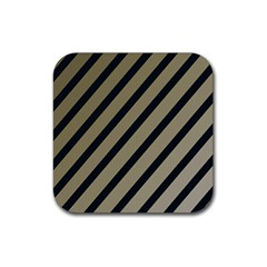 Decorative Elegant Lines Rubber Square Coaster (4 Pack)  by Valentinaart