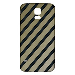Decorative elegant lines Samsung Galaxy S5 Back Case (White)