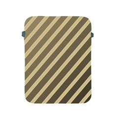 Golden Elegant Lines Apple Ipad 2/3/4 Protective Soft Cases by Valentinaart