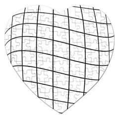 Simple lines Jigsaw Puzzle (Heart) by Valentinaart