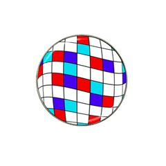 Colorful Cubes  Hat Clip Ball Marker (4 Pack) by Valentinaart