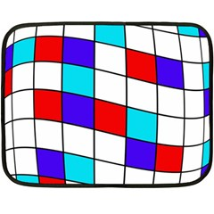 Colorful Cubes  Fleece Blanket (mini) by Valentinaart