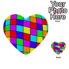 Colorful Cubes Multi Purpose Cards (heart)  by Valentinaart