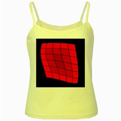 Red Abstraction Yellow Spaghetti Tank by Valentinaart