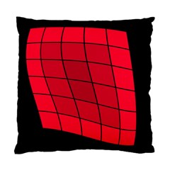 Red Abstraction Standard Cushion Case (two Sides) by Valentinaart