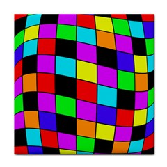 Colorful cubes  Tile Coasters by Valentinaart