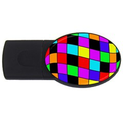 Colorful Cubes  Usb Flash Drive Oval (2 Gb)  by Valentinaart