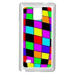 Colorful Cubes  Samsung Galaxy Note 4 Case (white) by Valentinaart