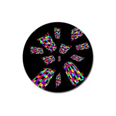 Colorful Abstraction Magnet 3  (round) by Valentinaart