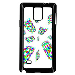 Colorful Abstraction Samsung Galaxy Note 4 Case (black) by Valentinaart