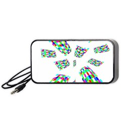Colorful Abstraction Portable Speaker (black)  by Valentinaart
