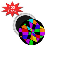 Abstract colorful flower 1.75  Magnets (100 pack)  by Valentinaart