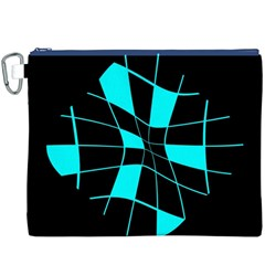 Blue Abstract Flower Canvas Cosmetic Bag (xxxl) by Valentinaart