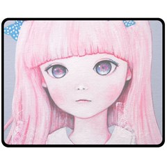Slow Spring Double Sided Fleece Blanket (Medium)  by kaoruhasegawa
