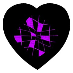 Purple Abstract Flower Jigsaw Puzzle (heart) by Valentinaart