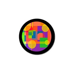 Colorful Circle  Golf Ball Marker (4 Pack) by Valentinaart
