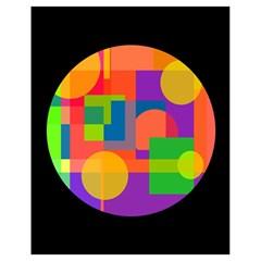 Colorful Circle  Drawstring Bag (small) by Valentinaart