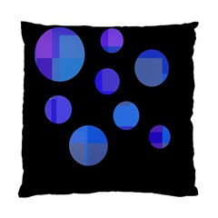 Blue Circles  Standard Cushion Case (two Sides) by Valentinaart