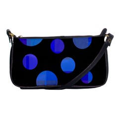 Blue Circles  Shoulder Clutch Bags by Valentinaart