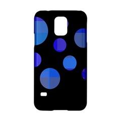 Blue Circles  Samsung Galaxy S5 Hardshell Case  by Valentinaart