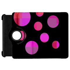 Pink Abstraction Kindle Fire Hd Flip 360 Case by Valentinaart