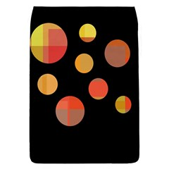 Orange Abstraction Flap Covers (l)  by Valentinaart