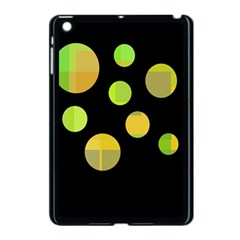 Green Abstract Circles Apple Ipad Mini Case (black) by Valentinaart