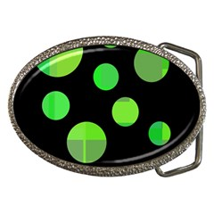 Green circles Belt Buckles by Valentinaart