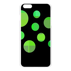 Green circles Apple Seamless iPhone 6 Plus/6S Plus Case (Transparent) by Valentinaart