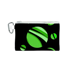 Green Balls   Canvas Cosmetic Bag (s) by Valentinaart