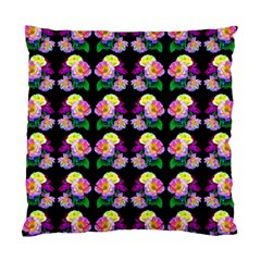Rosa Yellow Roses Pattern On Black Standard Cushion Case (two Sides) by Costasonlineshop