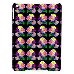 Rosa Yellow Roses Pattern On Black Ipad Air Hardshell Cases by Costasonlineshop