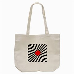 Abstract Red Ball Tote Bag (cream) by Valentinaart