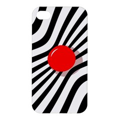 Abstract Red Ball Apple Iphone 4/4s Hardshell Case by Valentinaart