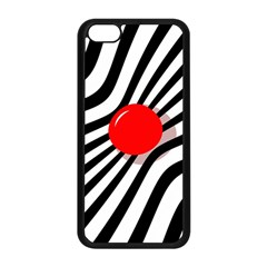 Abstract Red Ball Apple Iphone 5c Seamless Case (black) by Valentinaart