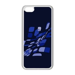 Blue Abstraction Apple Iphone 5c Seamless Case (white) by Valentinaart
